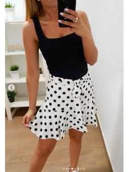 Falda blanca lunares (Ref...