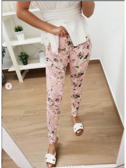 Pantalón estampado rosa...