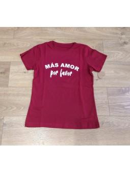 Camiseta granate Más amor