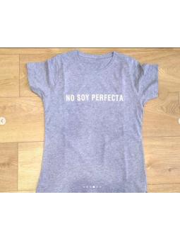 Camiseta gris No soy perfecta