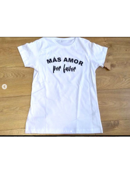 Camiseta blanca Más amor...