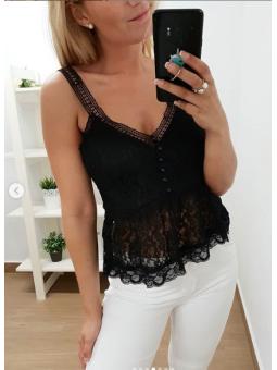 Blusa encaje negra (5002)