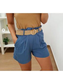 Pantalon azul vaquero corto...