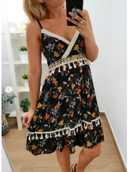 Vestido florecitas corto...
