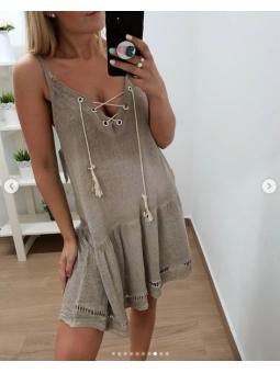 vestido corto tirante...