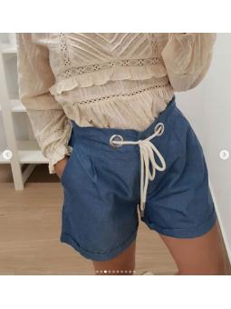 Pantalon corto vaquero cuerda
