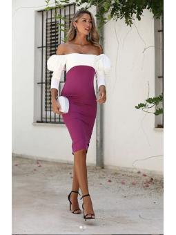 Vestido Buganvilla/Blanco