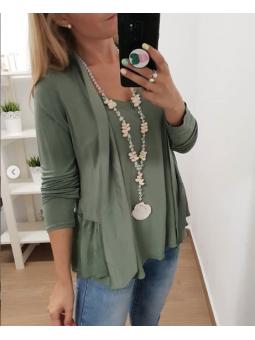 Chaqueta verde fina