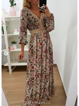 Vestido estampado hippie...