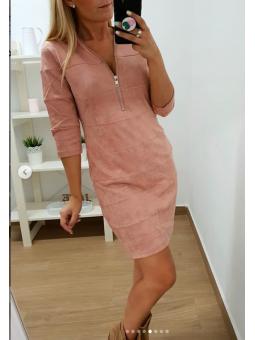 Vestido antelina rosa (268)