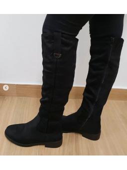 Bota alta negra antelina 5605