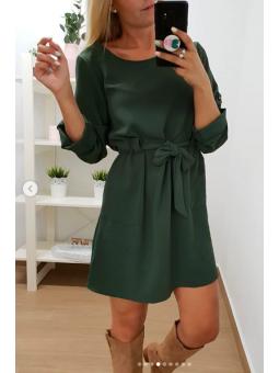 Vestido Lucía verde militar