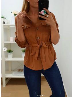 Sobrecamisa/chaqueta marrón...