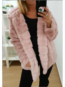 Abrigo rosa pelito