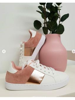 Zapatillas bicolor rosa...