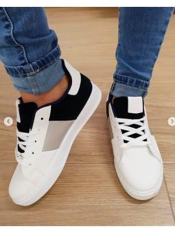 Zapatillas bicolor azul...