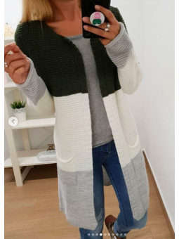 Chaqueta lana tricolor...