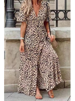 Vestido Animal Print largo...