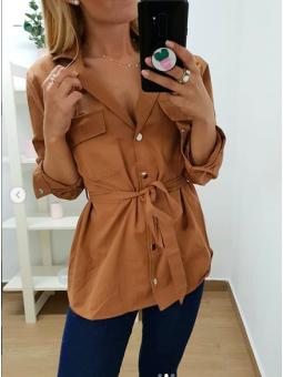 Chaqueta/camisa marrón (5065)