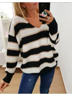 Suéter lana rayas...