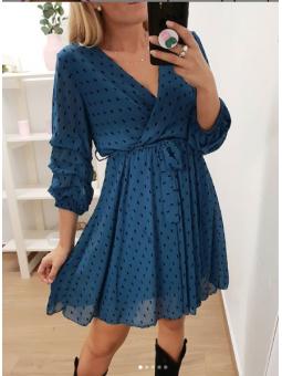 Vestido azul petróleo...