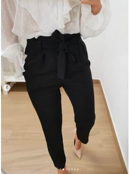 Pantalón lazada negro (15621)