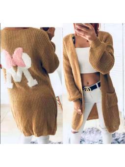 Chaqueta lana camel M lacito