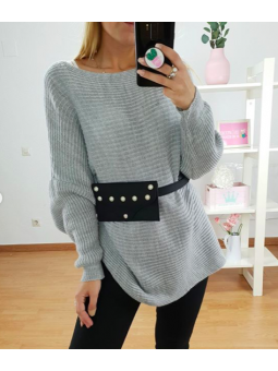 vestido/sueter lana gris...