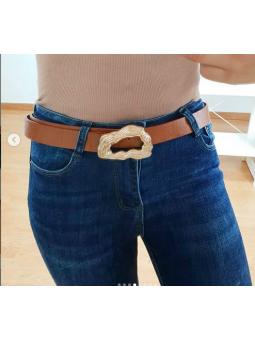 Cinturón camel hebilla...