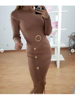 vestido Monica beige 5038-5