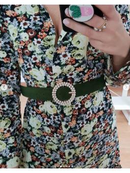 Cinturón terciopelo verde...
