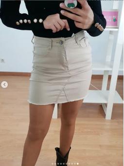 Falda beige 2475