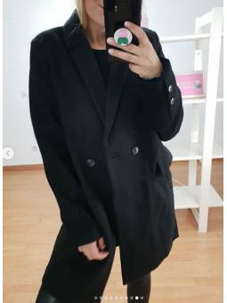 Abrigo largo Negro 9736