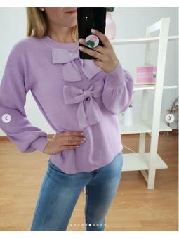 Suéter lazos lila 08343