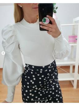 Suéter blanco mangas...