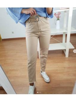 Pantalon Beige goma 2533