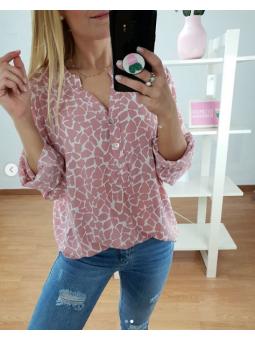 Camisa rosa manchas 4286