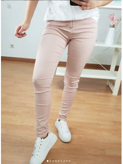 Pantalón vaquero rosa bajo...