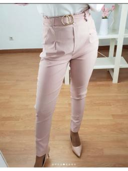 Pantalon Rosa +cinturón...