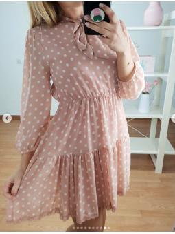 Vestido cruzado rosa...
