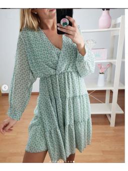 Vestido Alice verde cruzado...