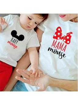 Camiseta mamá//niño mouse