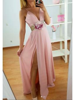 Vestido fiesta rosa Scarlett