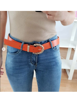 Cinturón Naranja hebilla...