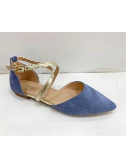 Zapato azul detalles...