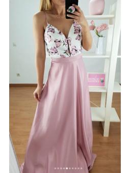 Vestido fiesta Carolina rosa