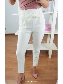 Pantalón Blanco lazada (15621)