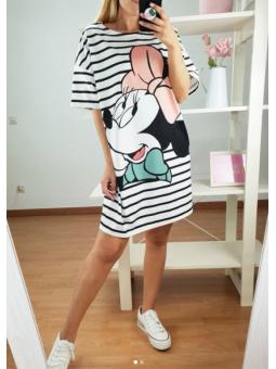 Vestido corto rayas Minnie...