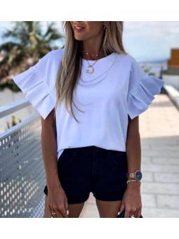 Camiseta blanca manga...