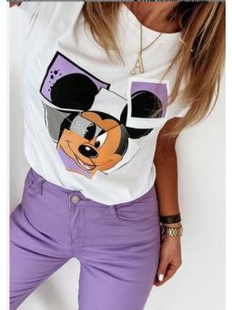 Camiseta Mickey lila
